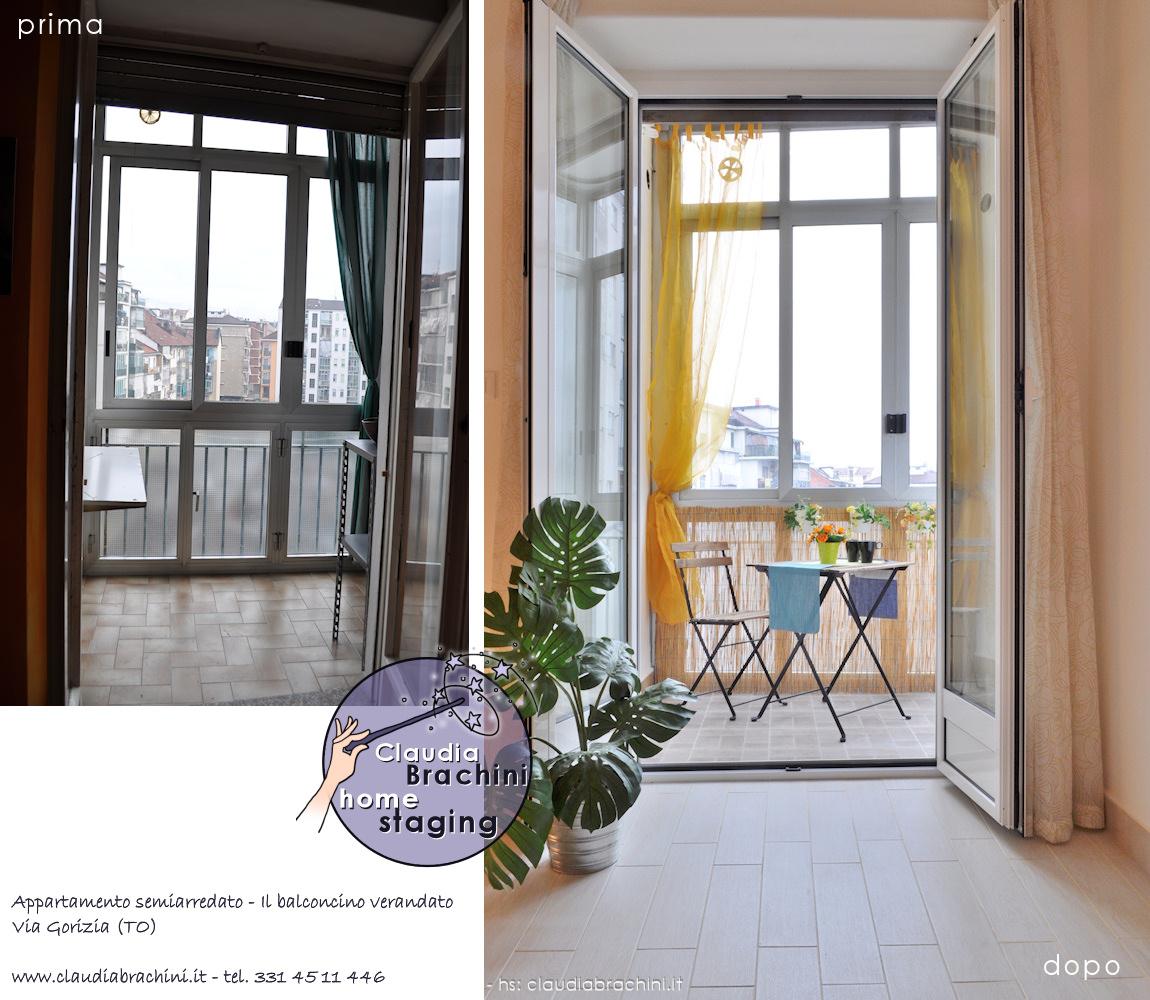 prima e dopo home staging veranda