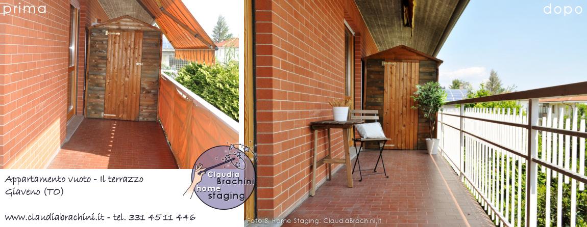 home staging con allestimento balcone