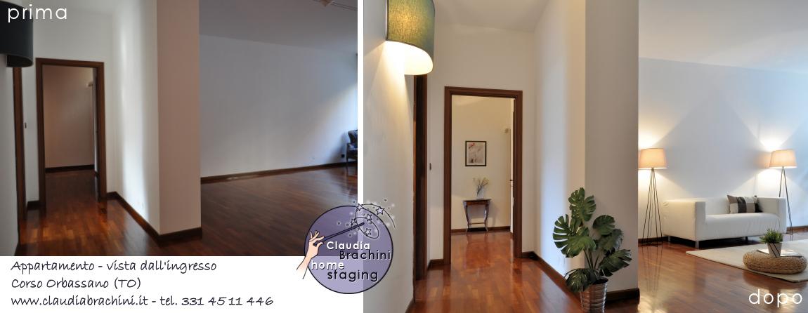 prima e dopo home staging ingresso soggiorno