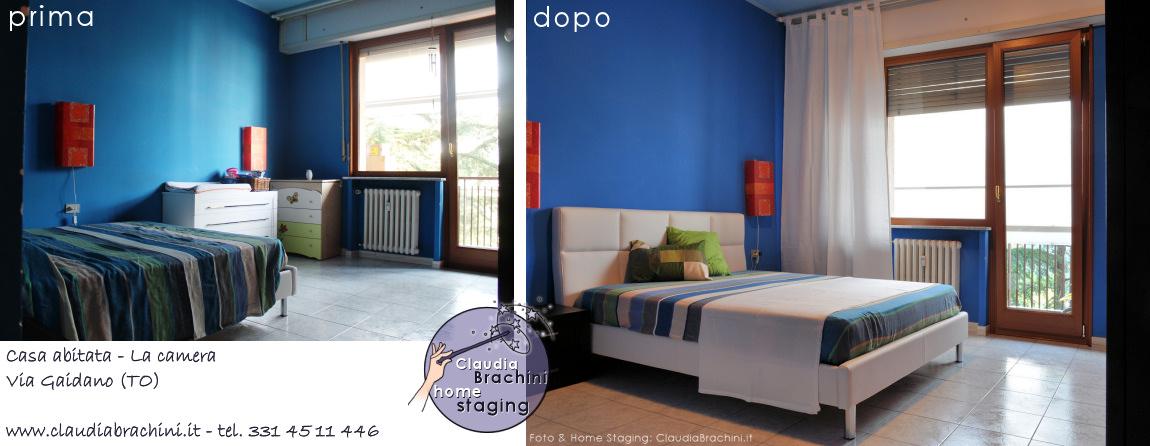 prima e dopo camera da letto casa abitata