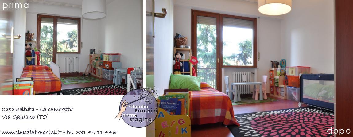prima e dopo cameretta casa abitata