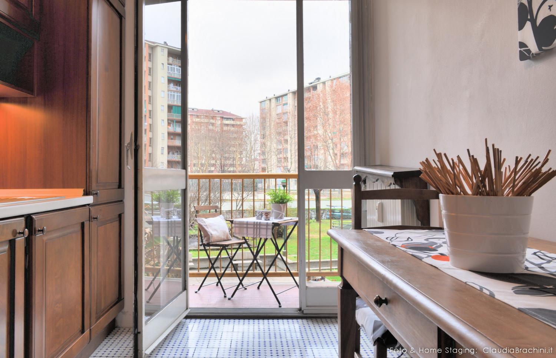home staging cucina e terrazzo Claudia Brachini